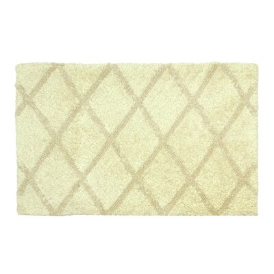 Criss Cross Bath Rug Size: 17 W x 24 L, Color: Bone