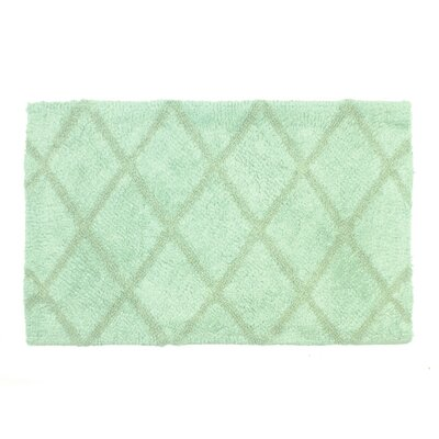 Criss Cross Bath Rug Size: 21 W x 32 L, Color: Seafoam