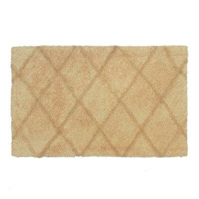 Criss Cross Bath Rug Size: 17 W x 24 L, Color: Tan