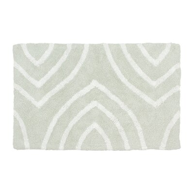 Leaf Tips Bath Rug Size: 17 W x 24 L, Color: Light Gray