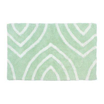 Leaf Tips Bath Rug Size: 17 W x 24 L, Color: Seafoam