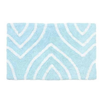 Leaf Tips Bath Rug Size: 17 W x 24 L, Color: Spa Blue