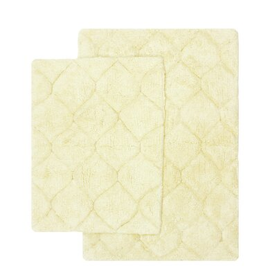 Serenity 2 Piece Bath Rug Set Color: Bone
