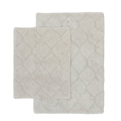 Serenity 2 Piece Bath Rug Set Color: Light Gray