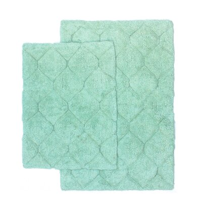 Serenity 2 Piece Bath Rug Set Color: Seafoam