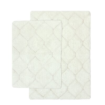 Serenity 2 Piece Bath Rug Set Color: White