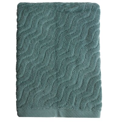 Wave Jacquard Bath Towel Color: Seafoam