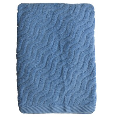 Wave Jacquard Bath Towel Color: Sky Blue