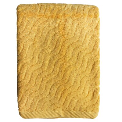 Wave Jacquard Bath Towel Color: Yellow