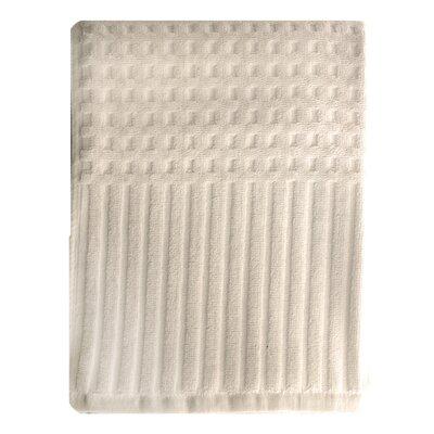 City Stripe Honeycomb Bath Towel Color: Ivory