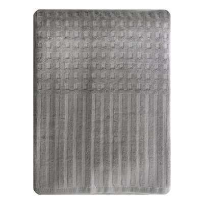City Stripe Honeycomb Bath Towel Color: Gray