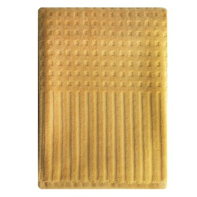 City Stripe Honeycomb Bath Towel Color: Yellow
