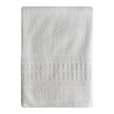 Berkshire Stripe Bath Towel Color: White