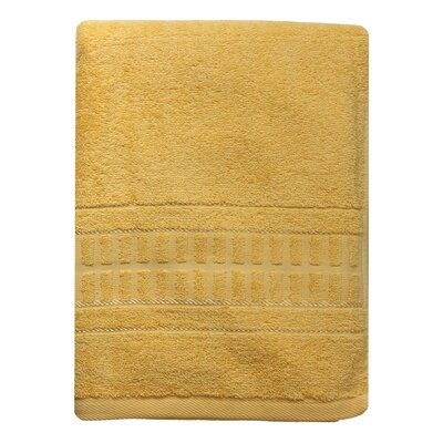 Berkshire Stripe Bath Towel Color: Yellow