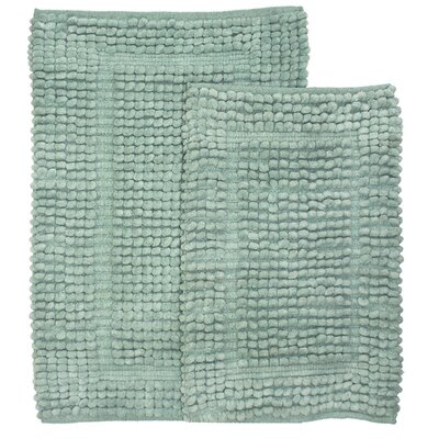 Pamenta 2 Piece Bath Rug Set Color: Blue