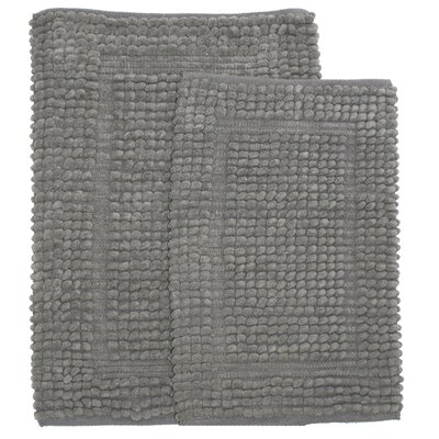 Pamenta 2 Piece Bath Rug Set Color: Gray