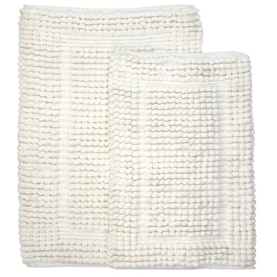Pamenta 2 Piece Bath Rug Set Color: Ivory