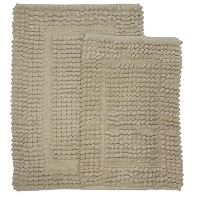 Pamenta 2 Piece Bath Rug Set Color: Linen
