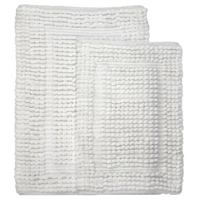 Pamenta 2 Piece Bath Rug Set Color: White