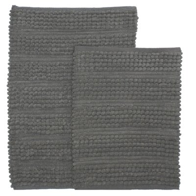 Sacramento 2 Piece Bath Rug Set Color: Gray