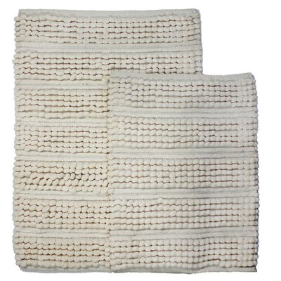 Sacramento 2 Piece Bath Rug Set Color: Ivory