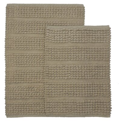 Sacramento 2 Piece Bath Rug Set Color: Linen