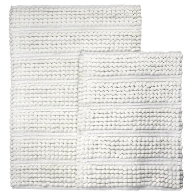 Sacramento 2 Piece Bath Rug Set Color: White