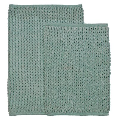 Marina 2 Piece Bath Rug Set Color: Blue