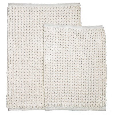 Marina 2 Piece Bath Rug Set Color: Ivory