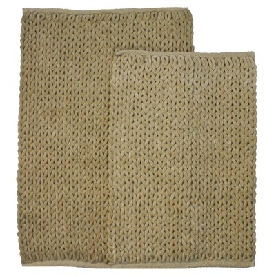 Marina 2 Piece Bath Rug Set Color: Linen