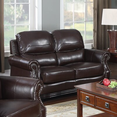 Swain Bonded Leather Loveseat