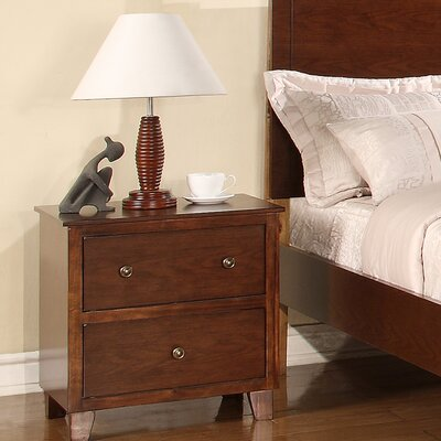 Lift Off 2 Drawer Nightstand