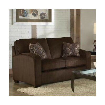 Zeus Loveseat Upholstery: Chocolate
