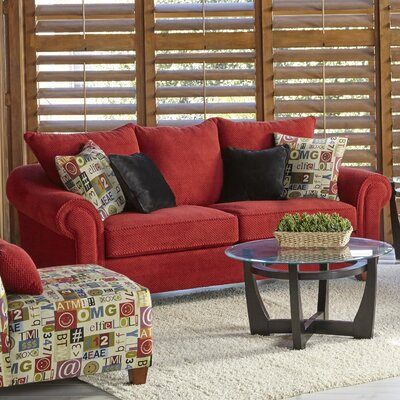 Slark Loveseat Upholstery: Red