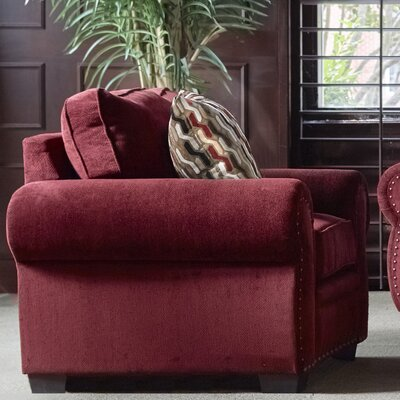 Achilles Arm Chair Upholstery: Wine