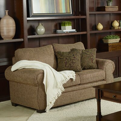 Poseidon Loveseat Upholstery: Brown