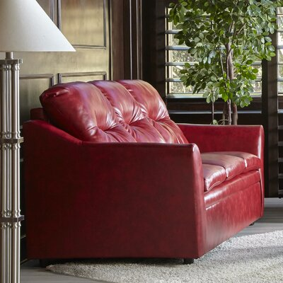 Aura Sofa Upholstery: Red