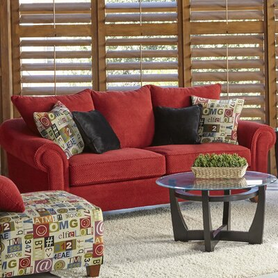 Slark Sofa Upholstery: Red