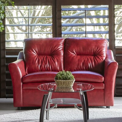 Aura Loveseat Upholstery: Red