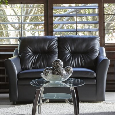 Aura Loveseat Upholstery: Black