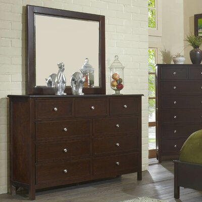 Martin 9 Drawer Dresser with Mirror