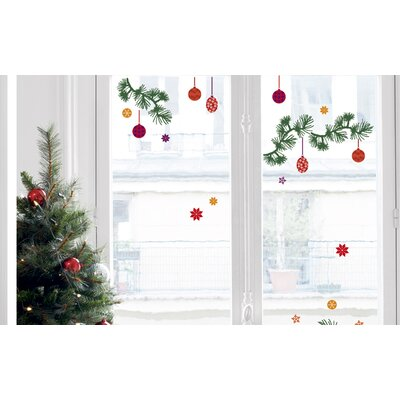 Christmas Tree Branch Decorations Window Decal