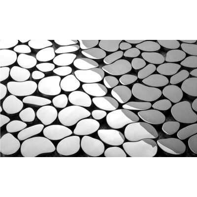 """Martini Mosaic Pebble 12"""" x 12"""" Tile in Stainless Steel (Set of 7) at Sears.com"""