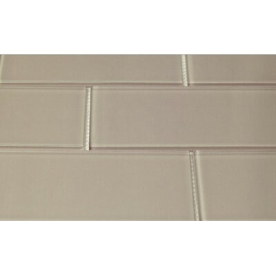 Blocco 3 x 6 Glass Subway Tile in Warm Gray