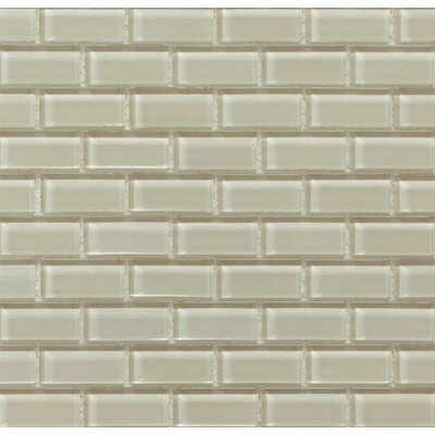 Essen 1 x 2 Glass Subway Tile in Sand Castle