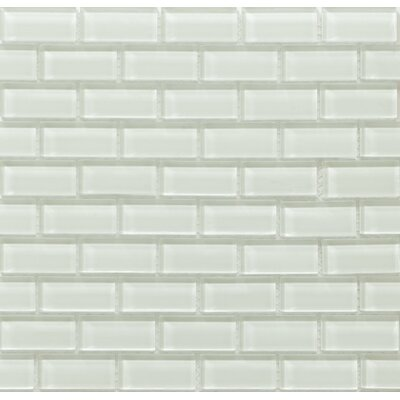 Essen 1 x 2 Glass Subway Tile in Crystal Ice