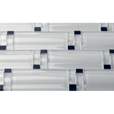 Maree Random Sized Glass/Stone Mosaic Tile in Crystal Ice