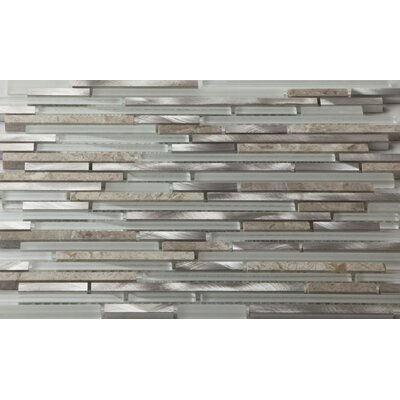 Riga Random Sized Metal/Glass/Stone Mosaic Tile in Dazzle Stone