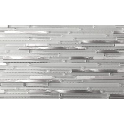 Riga Random Sized Stone/Glass/Metal Mosaic Tile in Marble Ice