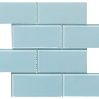 Blocco 3 x 6 Glass Subway Tile in Riviera Water